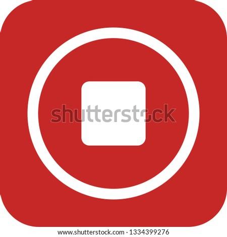 Stop Vector Icon #1334399276
