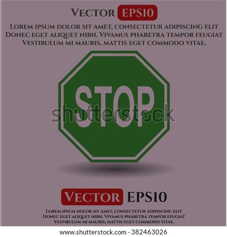 Stop vector symbol