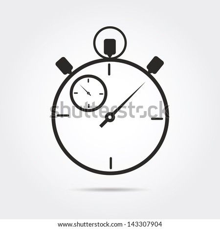 stop watch vector
