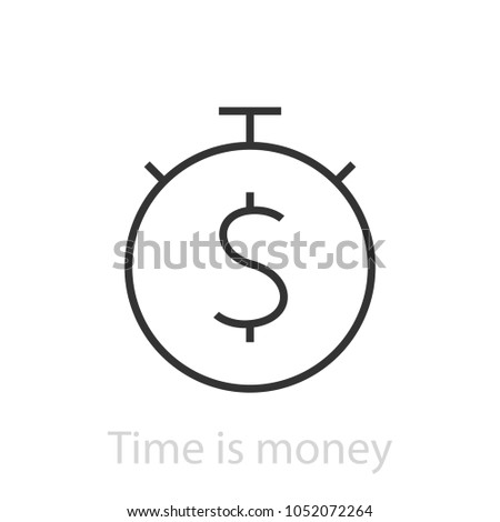Stop watch with dollar sign