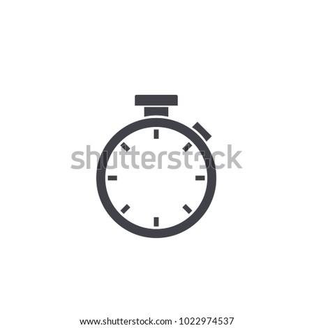 stopwatch icon EPS10