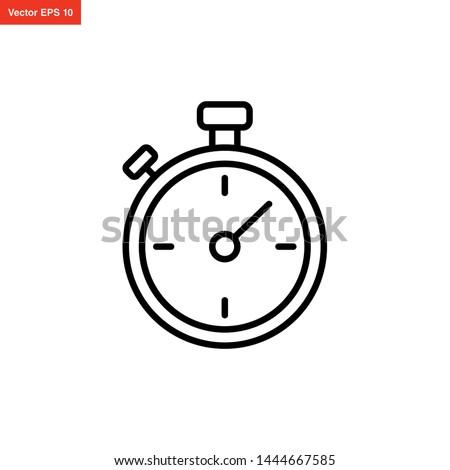 stopwatch icon line art style vector design Photo stock ©
