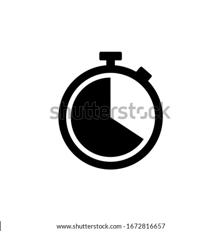 Stopwatch icon symbol vector. Timer icon symbol illustration