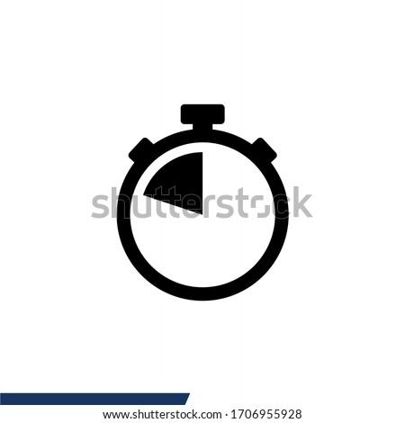 Stopwatch icon. Timer icon vector illustration Photo stock ©