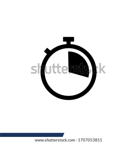 Stopwatch icon. Timer icon vector illustration