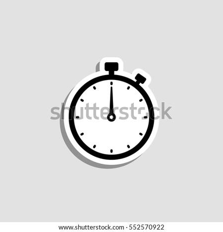 Stopwatch  icon - vector  sticker