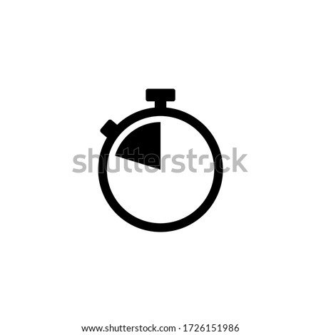 Stopwatch icon vector. Timer icon symbol illustration