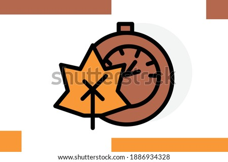 stopwatch  leaf  time icon for