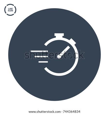 Stopwatch line vector icon ストックフォト ©