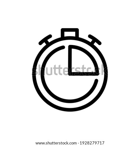 Stopwatch or countdown icon. Period of time. Timer icon vector illustration in outline style
