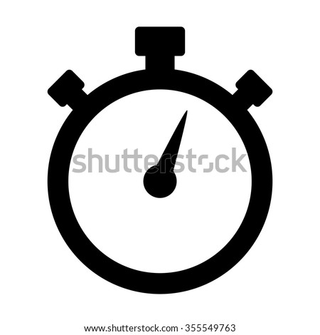 Stopwatch / stop watch timer flat vector icon for apps and websites