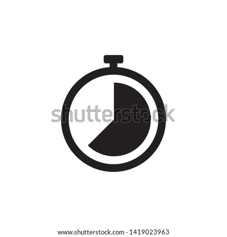 Stopwatch Timer Icon Vector Illustration - Vector