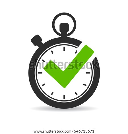 Stopwatch vector icon isolated on white background. Time timer vector icon.