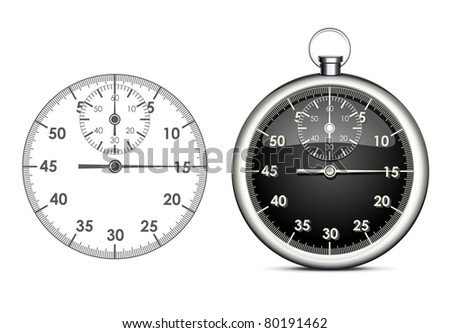 stopwatch vector object