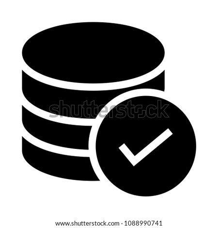 storage check vector glyphs icon