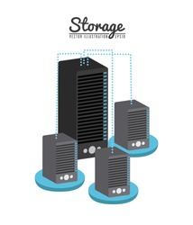 storage device design, vector illustration eps10 graphic