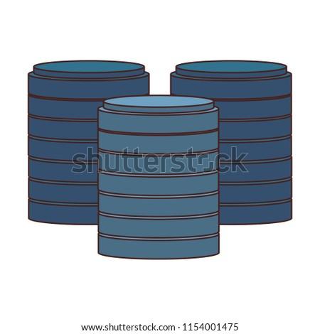 Storage disks symbol