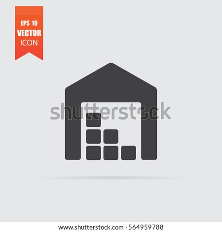 Storage icon in flat style isolated on grey background. For your design, logo. Vector illustration.