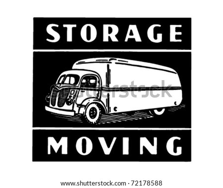 Storage Moving - Retro Ad Art Banner