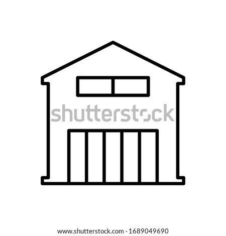 Storage room icon. Flat vector graphic in white background.