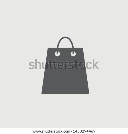 Store bag vector icon soild grey