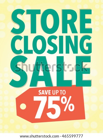 store closing sale sign   save