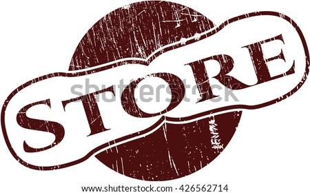 Store grunge stamp