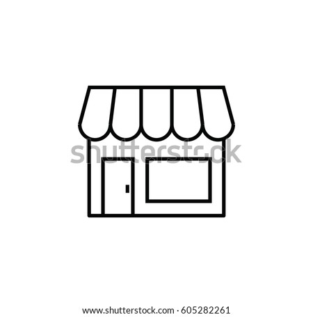 Store icon. Linear style store icon. Isolated vector store, icon. Outline store icon.