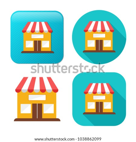 store icon - shopping icon - building storefront - online market
