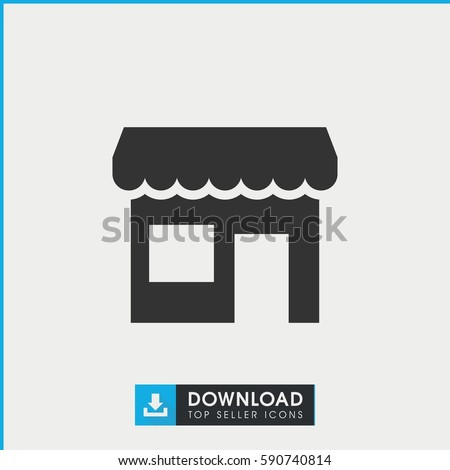 store icon. Simple filled store vector icon. On white background.