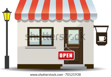 store icon vector illustration - stock vector