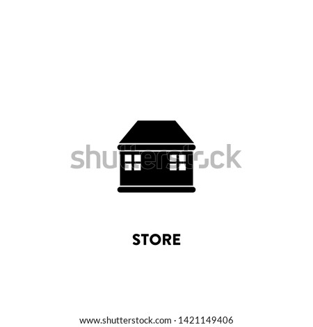store icon vector. store sign on white background. store icon for web and app