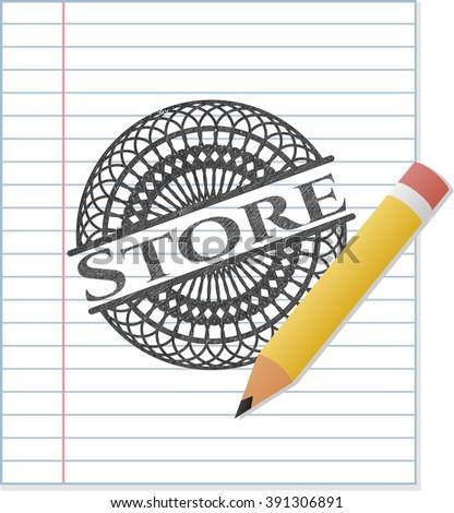 Store pencil strokes emblem
