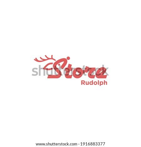 Store Rudolph Design Templates Animal  Simple Stock photo ©