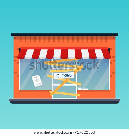 store shop is closed bankrupt