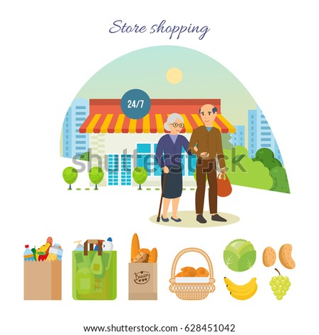store shopping concept adult