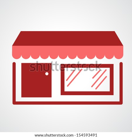 storefront icon isolated on white background