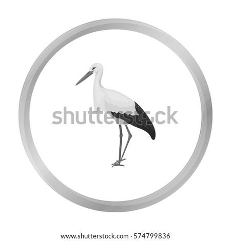 stork icon in monochrome style