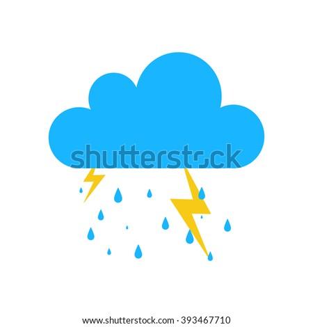 Storm bolt vector icon.