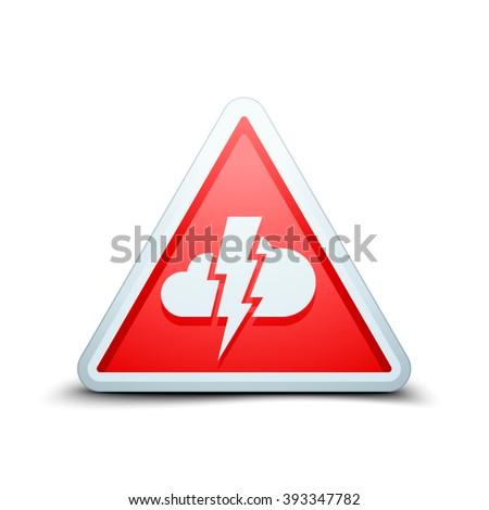 Storm Hazard sign