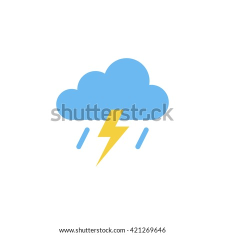 Storm Icon in trendy flat style isolated on grey background. Rainstorm symbol for your web site design, logo, app, UI. Vector illustration, EPS10.