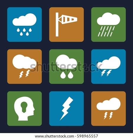 storm icons set set of 9 storm