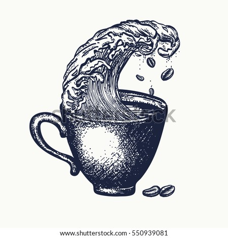 storm in a cup of coffee tattoo