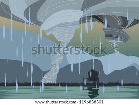 storm in mountains vector