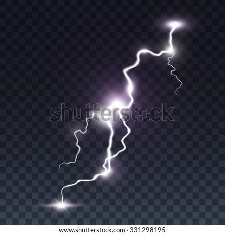 storm lightning bolt isolated