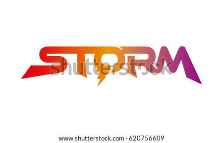 storm logo logotype
