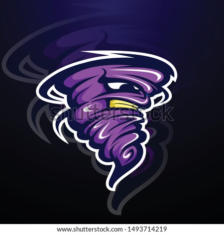 storm tornado character design mascot illustration, logo design concept, sport and bold designs