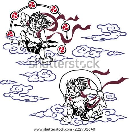 Stock Photo stormy god and god of thunder
