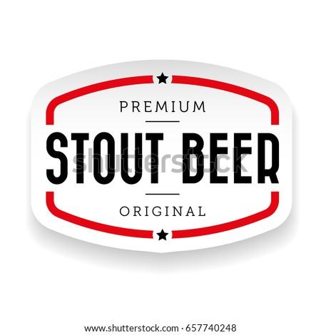 Stout Beer vintage sign