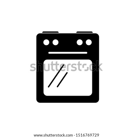 Stove oven icon, vector gas stove. Line icon. Kitchen cooking appliance. Vector illustration of stove isolated on white background